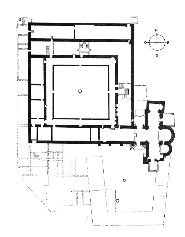 Plano general del monasterio
