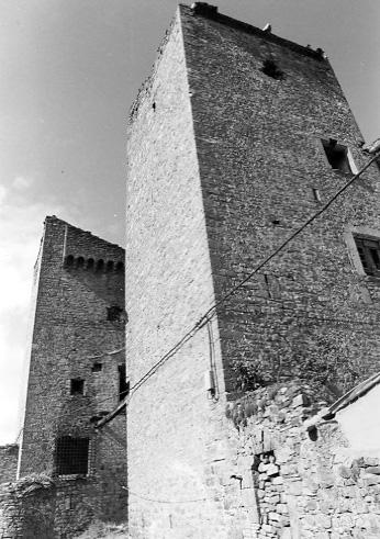 Vista lateral. Torres de la fachada