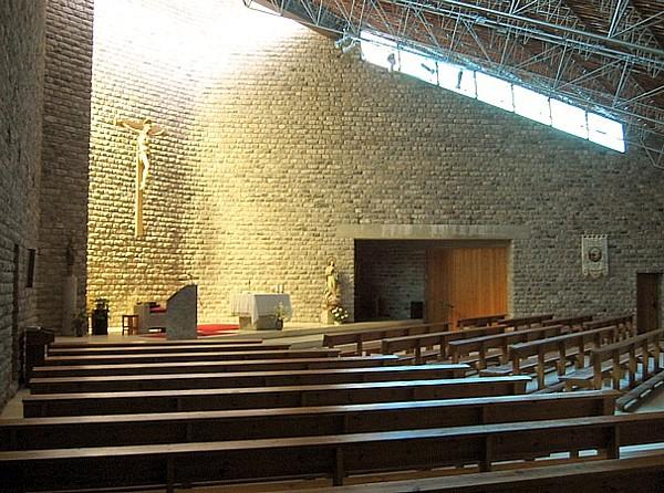 Interior de la iglesia de Nuestra Señora del Pilar
