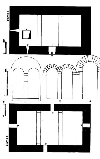 Planimetrías. Plantas 3 y 4