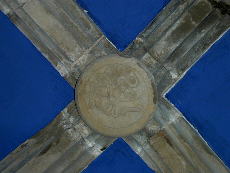 Clave de la bóveda de crucería