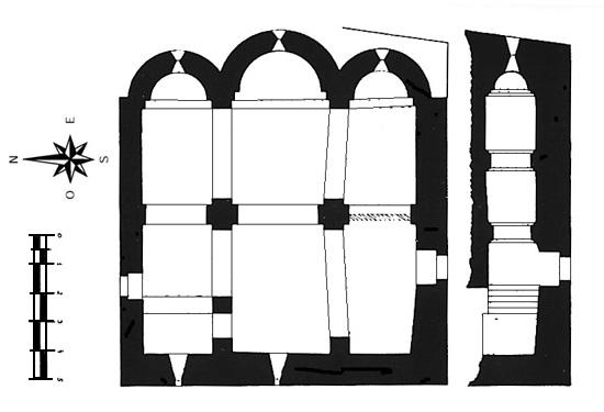 Planta. Detalle de iglesia y cripta