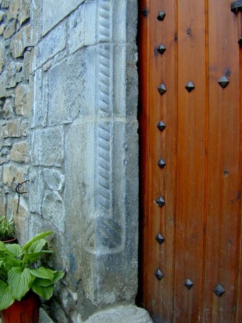 Puerta. Detalle del sogueado