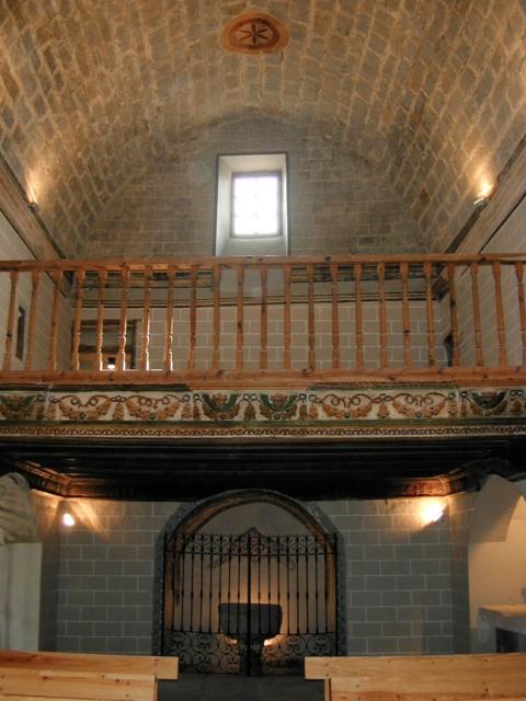 Coro y capilla bautismal