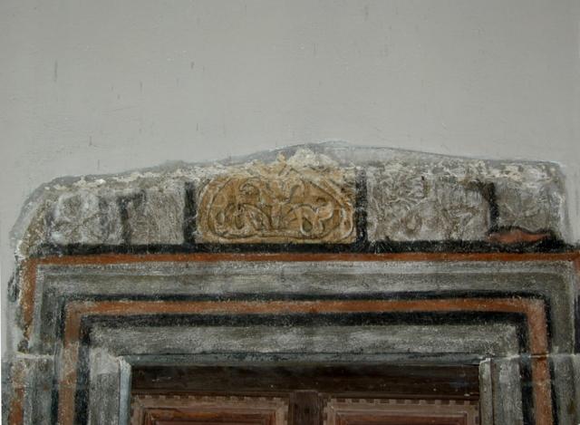 Puerta de la sacristía. Dintel