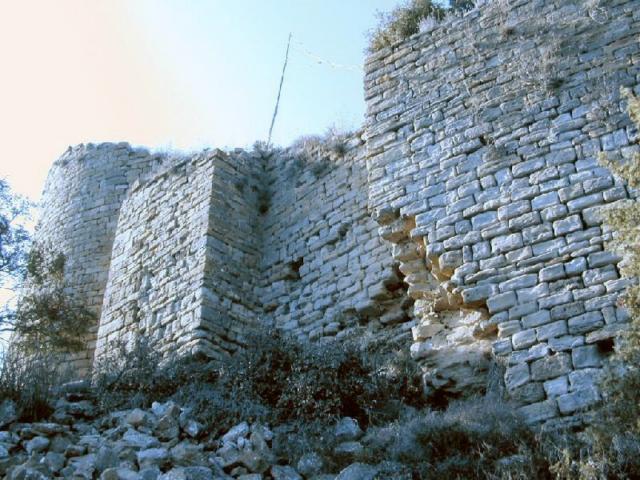 Muralla del castillo desde el sureste