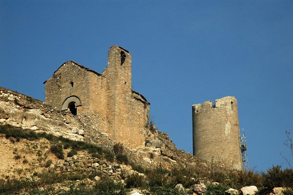 Castillo y santuario desde el sur