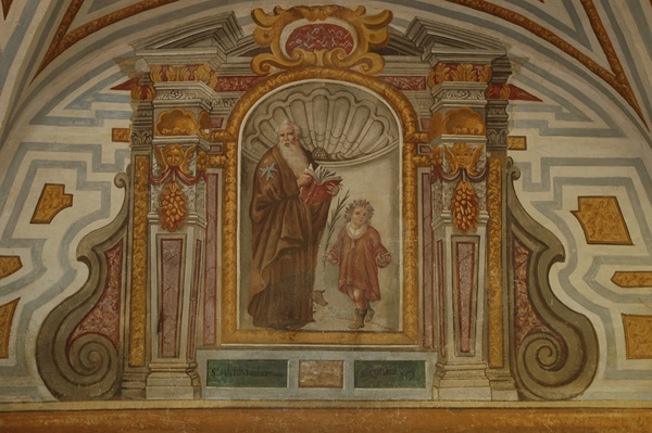 Detalle de pintura mural