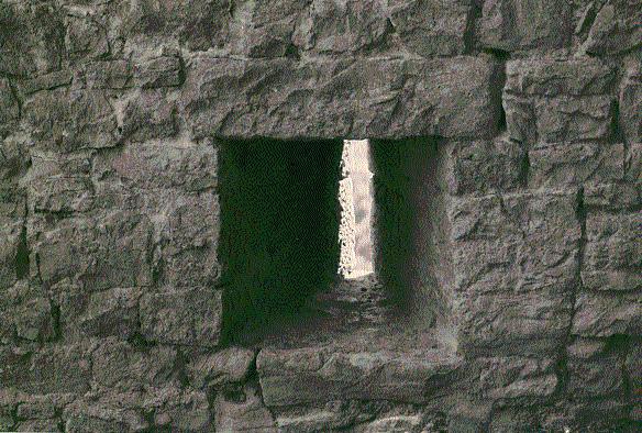 Muralla. Aspillera desde el interior. 1997