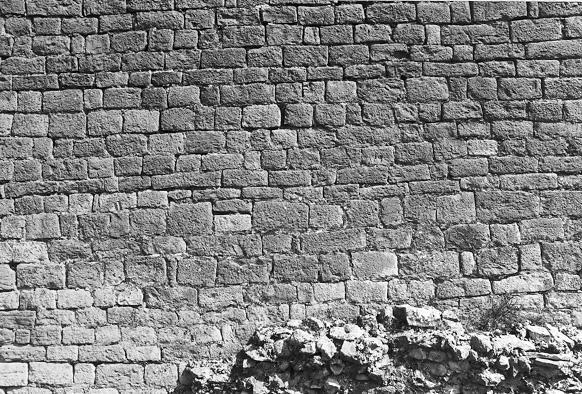 Torre albarrana. Detalle del aparejo. 1997