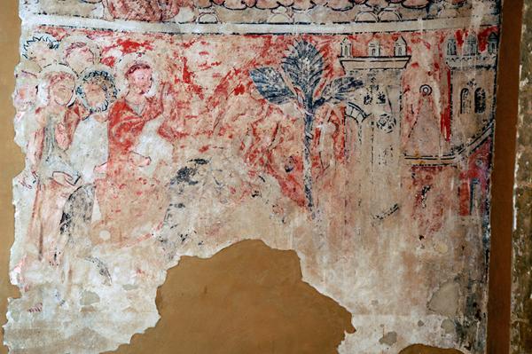 Pinturas murales. Cristo en Jerusalén