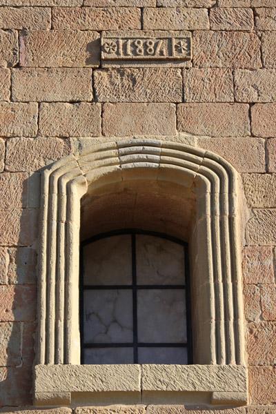 Detalle ventana e inscripción año