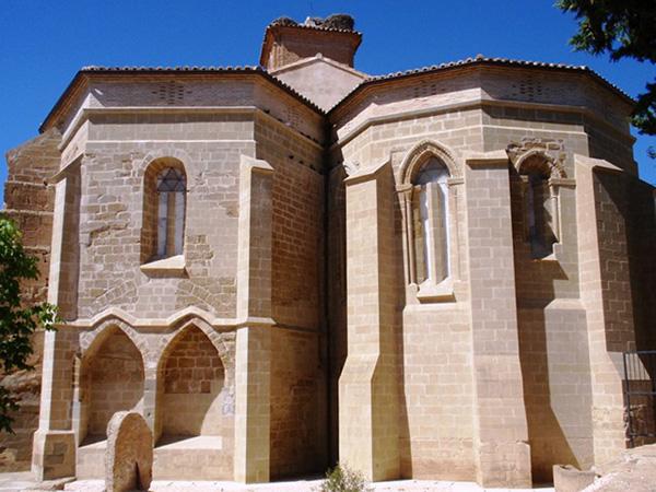 Lanaja. Iglesia de la Asunción. Ábside