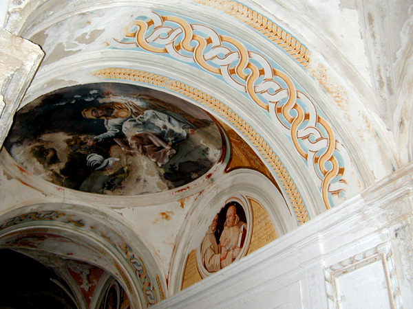 Claustrillo. Pinturas de las bóvedas