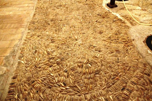 Casa natal Miguel Servet. Detalle suelo del patio