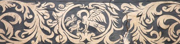 Decoración de esgrafiado en una bóveda