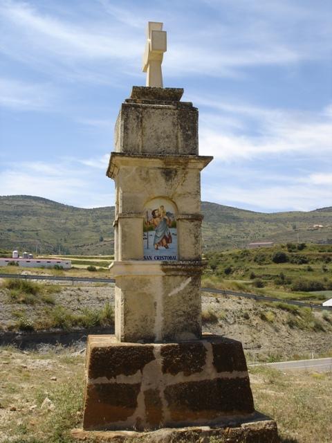 Faceta con la imagen de San Cristóbal