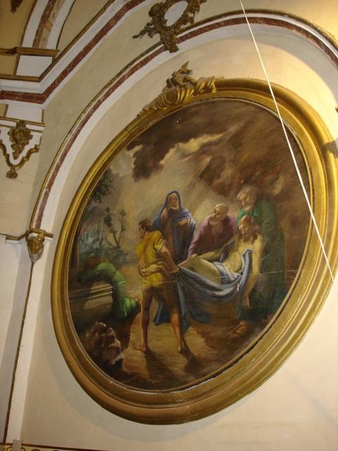 Medallón con pintura barroca