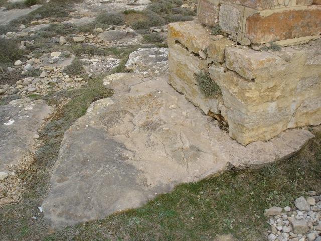 Roca con la huella del caballo (según la leyenda)