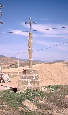 La cruz antes de su reconstrucción