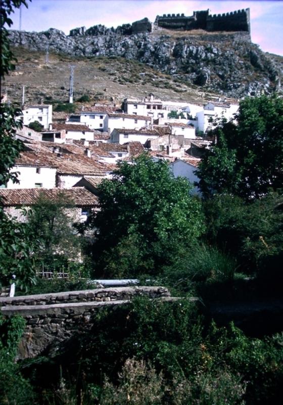 Vista general de población y castillo
