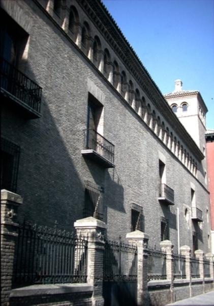 Vista de la fachada posterior