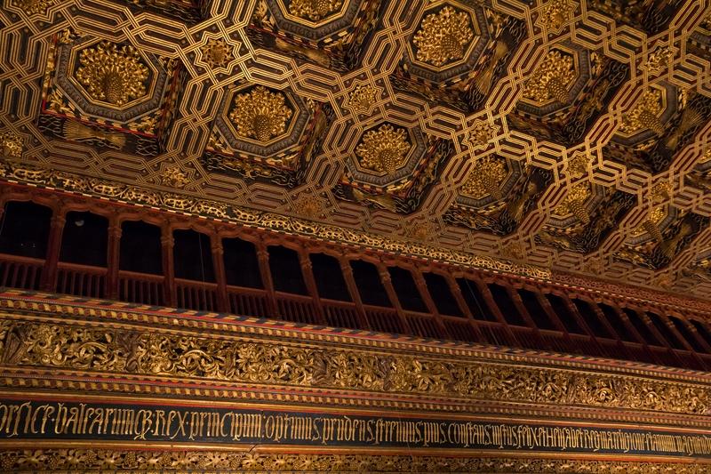 Alfarje salón del trono