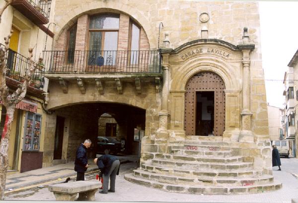 Detalle acceso desde plaza de España