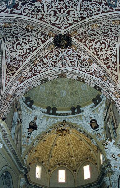 Interior. Bóveda, cúpula y parte alta cabecera
