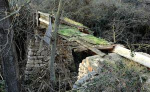 Puente de acceso a la mejana
