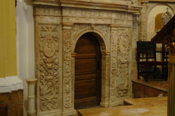 Detalle del retablo. Banco