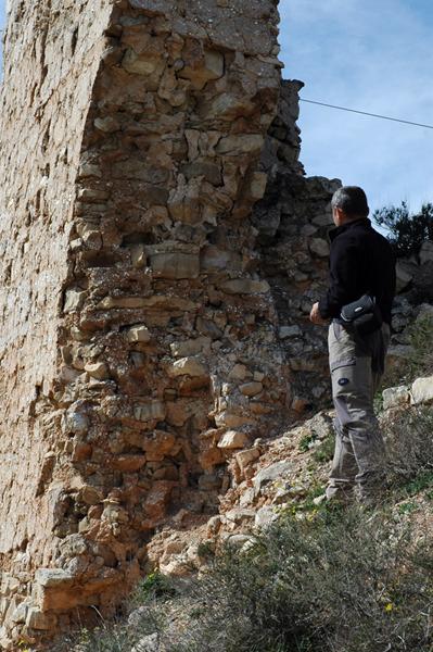 Torre. Sección del muro