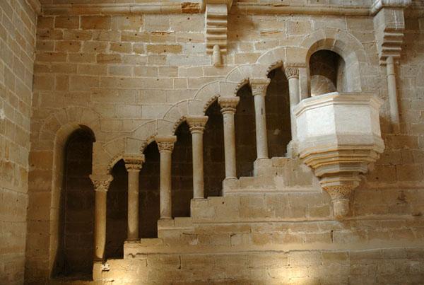 Escalera y púlpito