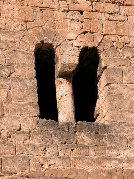 Ventana geminada en la torre