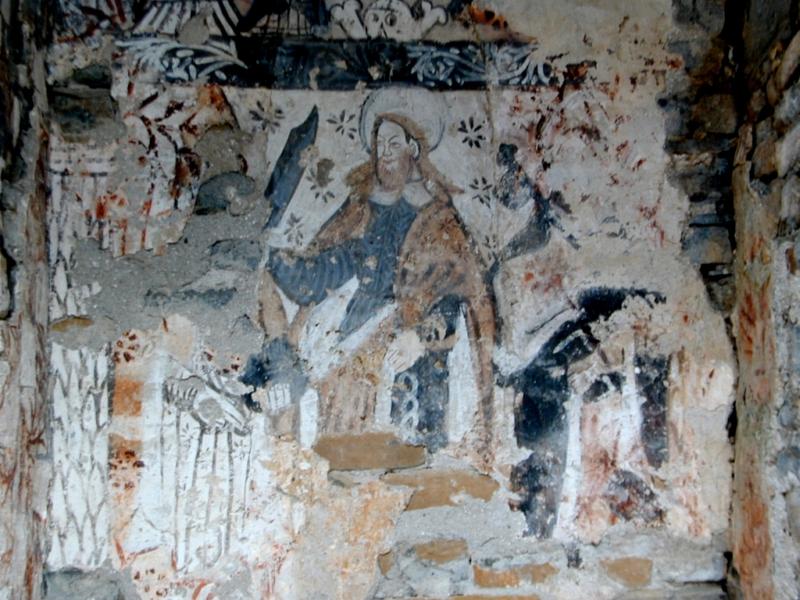 Imagen de San Bartolomé en el ábside central