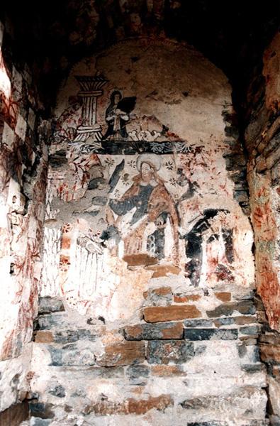 Ábside central. Pintura mural