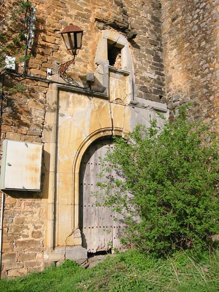 Portada de la casa abadía. 2002