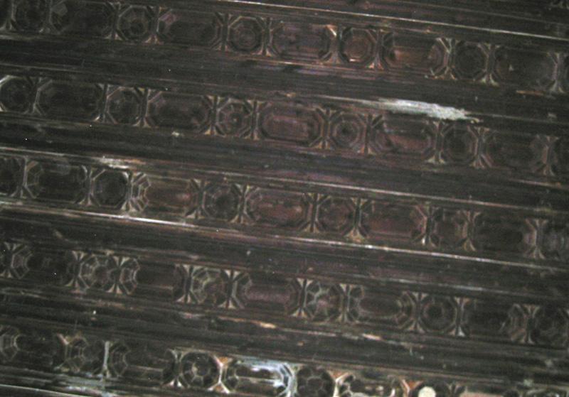 Detalle del artesonado