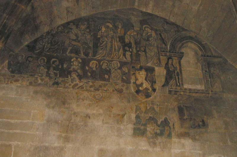 Decoraci�n mural torre del homenaje