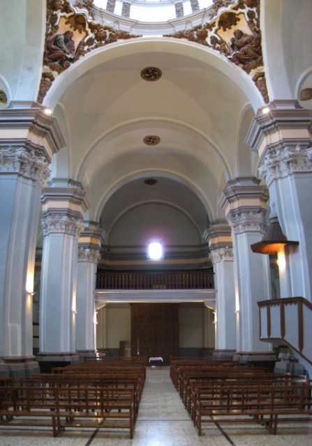 Interior. Nave central y coro