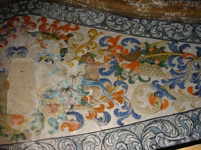 Interior de la ermita. Pintura mural