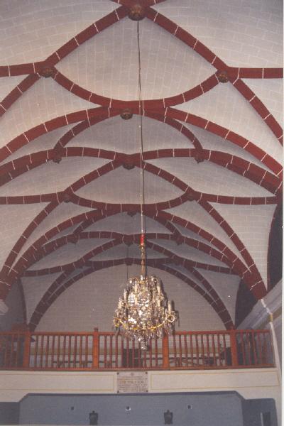 Vista interior coro y bóveda