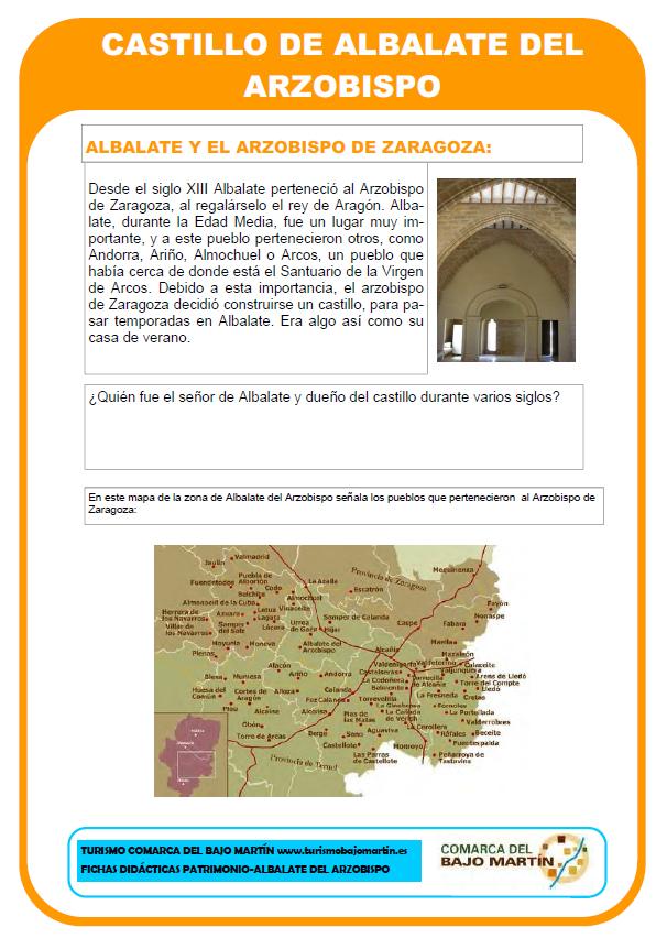 Patrimonio cultural de la comarca del Bajo Martín. Fichas didácticas