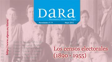 DARA publica digitalizados censos electorales de las tres provincias aragonesas