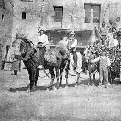 Fotografía antigua de La Puebla de Alfindén