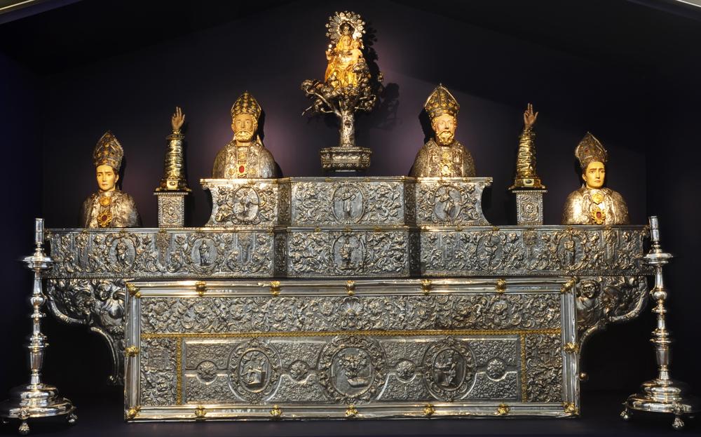 Conjunto para el altar mayor de la catedral de Barbastro (siglos XVII y XVIII). Foto: Museo Diocesano de Barbastro-Monzón