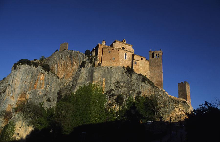 El castillo de Alquézar, prisión de las santas Nunilo y Alodia. Foto: Comarca del Somontano de Barbastro
