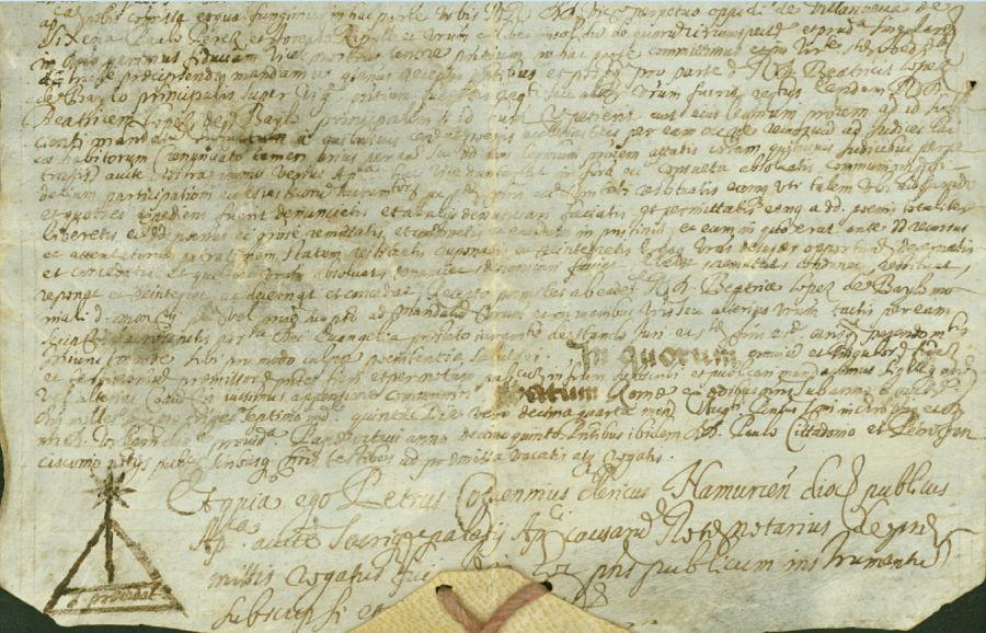 Resolución papal sobre controversia en la elección de priora (1637). Monasterio de Santa María de Sijena