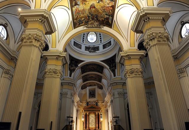 Nave central de la iglesia de Épila, un encargo del conde de Aranda. Foto: Gobierno de Aragón