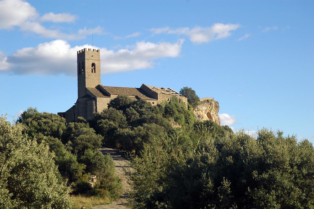 iglesia de Santa María en el conjunto fortificado de Muro de Roda. Foto: Francisco Bolea